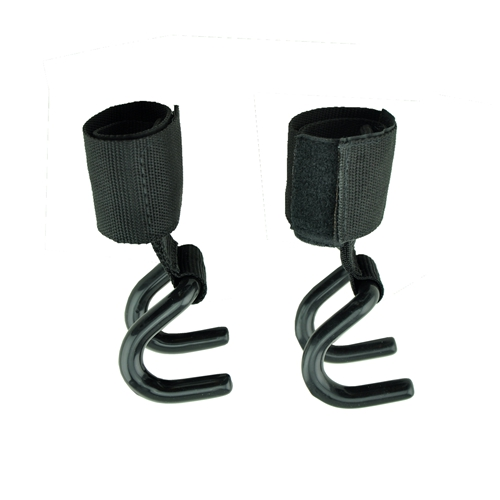 1 Pair Weight Lifting Hand Bar Grips Straps Wrist Support: 1 Pair Gym Power Weight Lifting Grips Hooks Straps Wrist